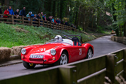 Boness Revival hillclimb motorsport event in Boness, Scotland, UK. The 2019 Bo'ness Revival Classic and Hillclimb, Scotland's first purpose-built motorsport venue, it marked 60 years since double Formula 1 World Champion Jim Clark competed here.  It took place Saturday 31 August and Sunday 1 September 2019. 21 Lorraine Noble-Thompson MG MGA