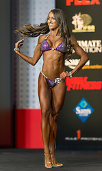 Sept.16, 2016 - Las Vegas, Nevada, U.S. -  COURTNEY KING competes in the Bikini Olympia contest during Joe Weider's Olympia Fitness and Performance Weekend.(Credit Image: © Brian Cahn via ZUMA Wire)