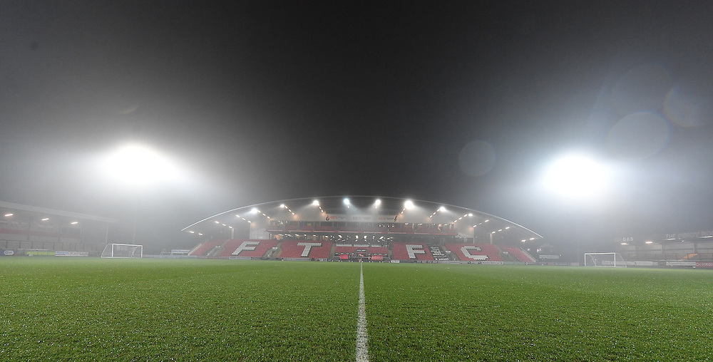 A general view of Highbury home of Fleetwood Town<br /> <br /> Photographer Dave Howarth/CameraSport<br /> <br /> Emirates FA Cup Third Round Replay - Fleetwood Town v Bristol City - Tuesday 17th January 2017 - Highbury Stadium - Fleetwood<br />  <br /> World Copyright © 2017 CameraSport. All rights reserved. 43 Linden Ave. Countesthorpe. Leicester. England. LE8 5PG - Tel: +44 (0) 116 277 4147 - admin@camerasport.com - www.camerasport.com