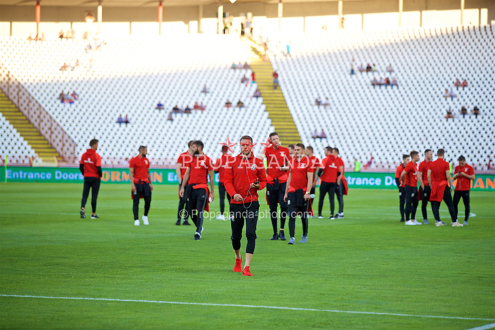 BELGRADE, SERBIA - Sunday, June 11, 2017: Wales' Chris Gunter before the 2018 FIFA World Cup Qualifying Group D match between Wales and Serbia at the Red Star Stadium. (Pic by David Rawcliffe/Propaganda)