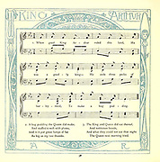 When Good King Arthur From the Book '  The baby's opera : a book of old rhymes, with new dresses by Walter Crane, and Edmund Evans Publishes in London and New York by F. Warne and co. in 1900