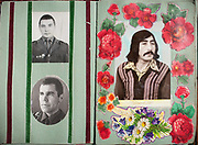 Collaged flowers and sweet memories of young men in the Russian Railway Troops in 1981. One of the inspired album that I photographed in the Pamir.