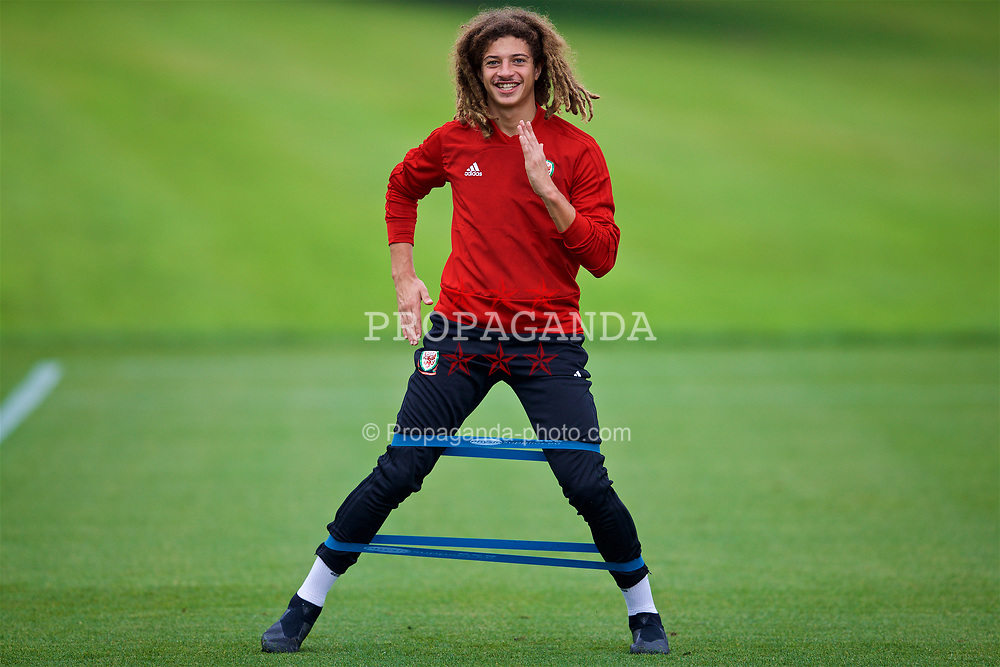 CARDIFF, WALES - Monday, September 3, 2018: Wales' Ethan Ampadu during a training session at the Vale Resort ahead of the UEFA Nations League Group Stage League B Group 4 match between Wales and Republic of Ireland. (Pic by David Rawcliffe/Propaganda)