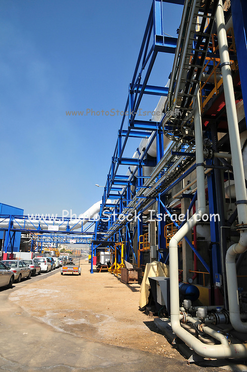 Desalination plant. This facility turns salt water into drinking water using the Reverse Osmosis Process and will produce 127 million cubic metres of fresh water each year. Photographed in Hadera, Israel.