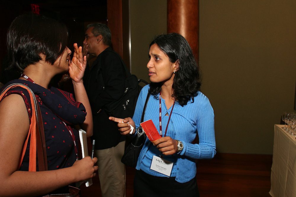Blogger Reshma Trenchil and Prabha Natarajan of Pacific Business News at the opening reception at the Rubin Museum of Art