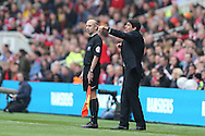 Middlesbrough FC Head Coach Aitor Karanka during the Sky Bet Championship match between Middlesbrough and Brighton and Hove Albion at the Riverside Stadium, Middlesbrough, England on 7 May 2016.