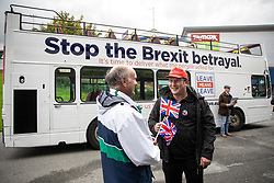 """© Licensed to London News Pictures . 22/09/2018. Bolton, UK. Pro Brexit campaign group Leave Means Leave host a """" Save Brexit """" and """" Chuck Chequers """" rally at the University of Bolton Stadium , attended by leave-supporting politicians from a cross section of parties , including Conservative David Davis , former UKIP leader Nigel Farage and Labour's Kate Hoey . Photo credit: Joel Goodman/LNP"""