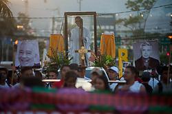 Catholics commemorate the 39th anniversary of the Salvadoran Saint Oscar Arnulfo Romero.