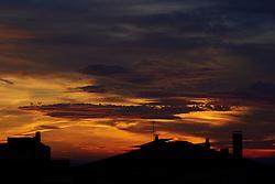 Sunset over the rooftops of Vilanova de la Barca