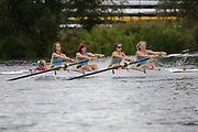 Race: 166  W.4+ (Band 2)  Final<br /> <br /> Peterborough Summer Regatta 2018 - Sunday<br /> <br /> To purchase this photo, or to see pricing information for Prints and Downloads, click the blue 'Add to Cart' button at the top-right of the page.