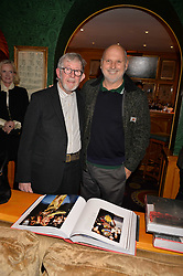 Chris Moore and Sam McKnight attend CATWALKING, PHOTOGRAPHS BY CHRIS MOORE party hosted by The British Fashion Council & Laurence King Publishing at Annabel's, Mayfair, London England. 6 November 2017.