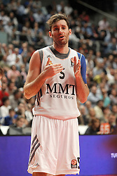 20.03.2014, Palacio de los Deportes, Madrid, ESP, Basketball EL, Real Madrid vs CSKA Moskau, Gruppe F, im Bild Real Madrid's Rudy Fernandez // Real Madrid's Rudy Fernandez during the group F Basketball Euroleague between Real Madrid and CSKA Moscow at the Palacio de los Deportes in Madrid, Spain on 2014/03/20. EXPA Pictures © 2014, PhotoCredit: EXPA/ Alterphotos/ Acero<br /> <br /> *****ATTENTION - OUT of ESP, SUI*****