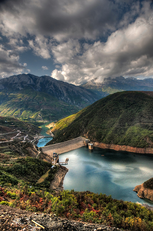 View of the Koman dam Albania power station