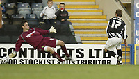 Photo: Aidan Ellis.<br /> Rochdale v Norwich City. Carling Cup. 28/08/2007.<br /> Rochdale's Glenn Murray scores the first goal
