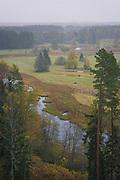 "Wooded meadows in foggy autumn day, protected landscape area ""Ziemeļgauja"", Latvia Ⓒ Davis Ulands   davisulands.com"