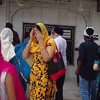 People at Gurudwara Bangla Sahib, Delhi's largest Sikh temple.