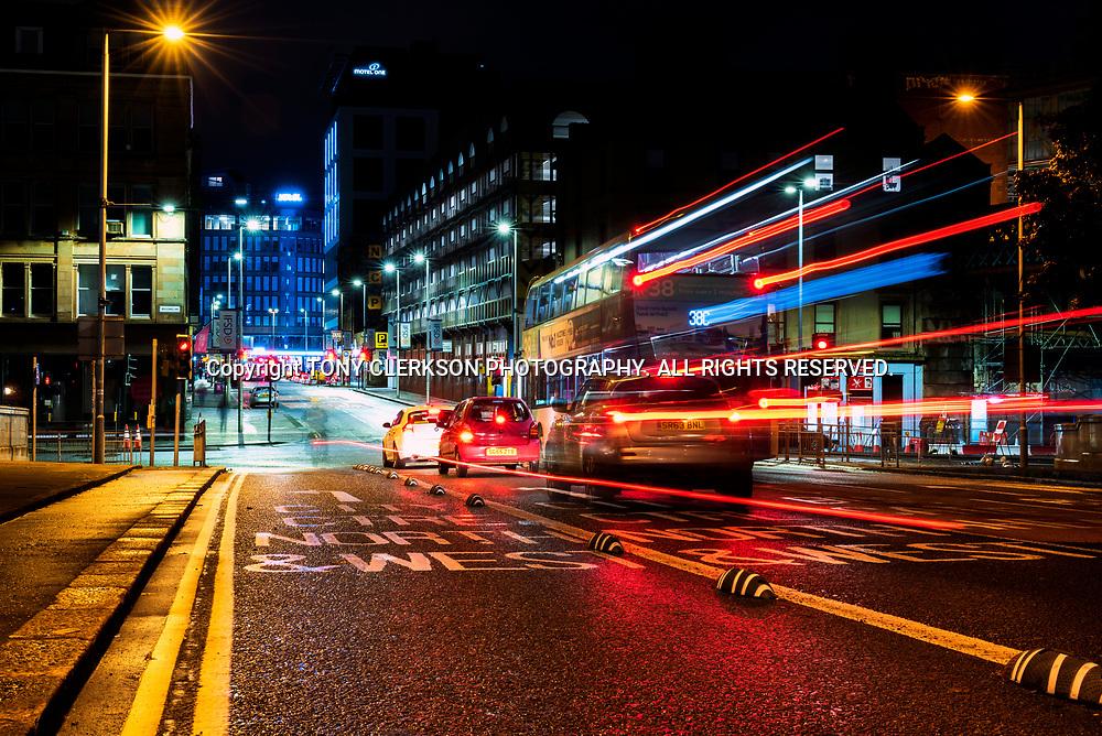 King George V Bridge in Glasgow city centre, heading towards Central Station