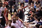 DESCRIZIONE : Milano Lega A 2014-15 <br /> EA7 Olimpia Milano - Acea Virtus Roma <br /> GIOCATORE : David Hackett<br /> CATEGORIA : esultanza post game mani <br /> SQUADRA : EA7 Olimpia Milano<br /> EVENTO : Campionato Lega A 2014-2015 <br /> GARA : EA7 Olimpia Milano - Acea Virtus Roma<br /> DATA : 12/04/2015<br /> SPORT : Pallacanestro <br /> AUTORE : Agenzia Ciamillo-Castoria/GiulioCiamillo<br /> Galleria : Lega Basket A 2014-2015  <br /> Fotonotizia : Milano Lega A 2014-15 EA7 Olimpia Milano - Acea Virtus Roma