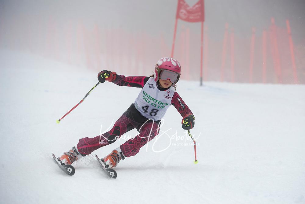 U 12 racers Gus Pitou Memorial alpine ski race January 13, 3013.