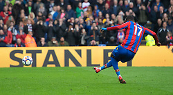 Crystal Palace's Christian Benteke scores his side's fifth goal of the game from a penalty