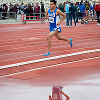 Junior Galvin Curley of Navajo Pine, creates some distance during the last lap of the 3200m race to win the NMMA 2A Boys State Championship in Albuquerque on Friday.