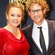 NLD/Amsterdam/20151015 - Televiziergala 2015, zwangere Juliette van Ardenne en Ewout Genemans