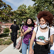 Mikiiya Foster, who just graduated high school, has organized two Black Lives Matter demonstrations in Simi Valley, a conservative, predominantly white suburb of Los Angeles, including this one on Juneteenth