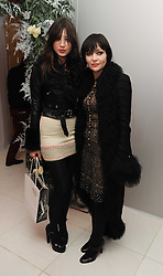 Left to right, DAISY LOWE and her mother PEARL LOWE at the launch of the English National Ballet's Christmas season 2009 held at the St.Martin;s Lane Hotel, London on 15th December 2009.