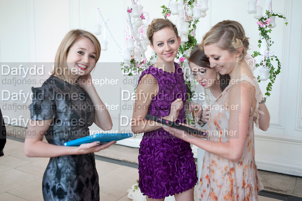 NANCY OSBALDESTON; CHANTEL ROULSTON; ANJULI HUDSON; RUTH BRILL, English National Ballet Summer party.  All proceeds from the Summer Party go towards English National Ballet. The Orangerie. Kensington Palace. London. 29 June 2011. <br /> <br />  , -DO NOT ARCHIVE-© Copyright Photograph by Dafydd Jones. 248 Clapham Rd. London SW9 0PZ. Tel 0207 820 0771. www.dafjones.com.
