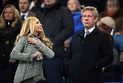 Everton director of football Marcel Brands (right) during the Emirates FA Cup, third round match at Goodison Park, Liverpool.