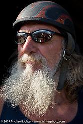 Antique enthusiast Steve Coe at the AMCA Sunshine Chapter Swap Meet during Daytona Beach Bike Week. FL. USA. Saturday March 11, 2017. Photography ©2017 Michael Lichter.