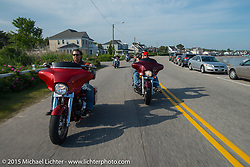 Paul Mirisola on a ride from Bentley's Saloon in Arundel, Maine back to Laconia, during the annual Laconia Motorcycle Week event. USA. June 17, 2014.  Photography ©2014 Michael Lichter.
