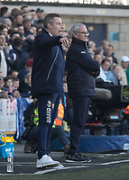 Football - 2016 / 2017 FA Cup - Fifth Round: Millwall vs. Leicester City <br /> <br /> Leicester City Manager Claudio Ranieri stands defiant alongside Millwall Manager Neil Harris at The Den<br /> <br /> COLORSPORT/DANIEL BEARHAM