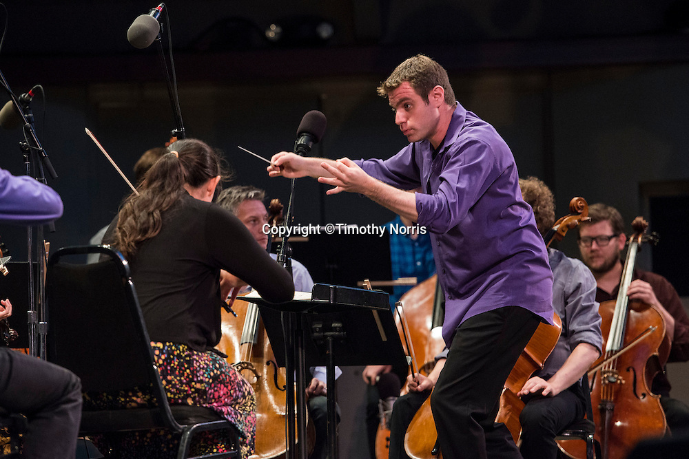 """Joshua Gersen conducts the MMDG Music Ensemble in Lou Harrison's """"Suite for Symphonic Strings"""" at Libbey Bowl on June 8, 2013 in Ojai, California."""