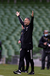DUBLIN, REPUBLIC OF IRELAND - Sunday, October 11, 2020: Wales' manager Ryan Giggs during the UEFA Nations League Group Stage League B Group 4 match between Republic of Ireland and Wales at the Aviva Stadium. The game ended in a 0-0 draw. (Pic by David Rawcliffe/Propaganda)