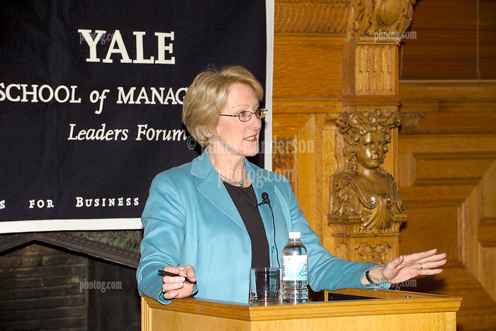 Anne Mulcahy, then CEO and former Chairman, Xerox Corporation,, speaking at the Yale School of Management Leaders Forum 1 February 2005