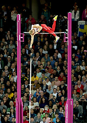 Poland's Piotr Lisek in action during the Men's Pole Vault final during day five of the 2017 IAAF World Championships at the London Stadium.
