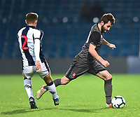 Lincoln City U18's Elliott Sartorius skips past West Bromwich Albion U18's Taylor Gardner-Hickman<br /> <br /> Photographer Andrew Vaughan/CameraSport<br /> <br /> FA Youth Cup Round Three - West Bromwich Albion U18 v Lincoln City U18 - Tuesday 11th December 2018 - The Hawthorns - West Bromwich<br />  <br /> World Copyright © 2018 CameraSport. All rights reserved. 43 Linden Ave. Countesthorpe. Leicester. England. LE8 5PG - Tel: +44 (0) 116 277 4147 - admin@camerasport.com - www.camerasport.com