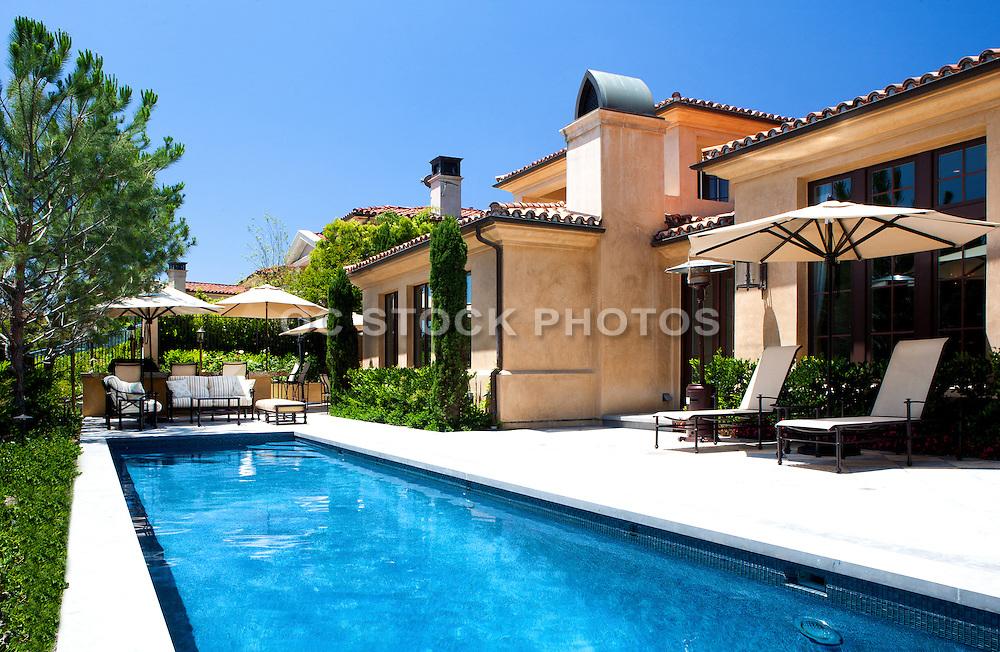 Orange County Mediterranean Home with Lap Pool