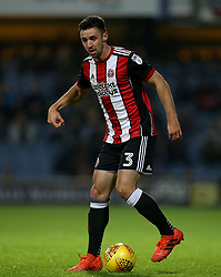 """Sheffield United's Enda Stevens in action during the game during the Sky Bet Championship match at Loftus Road, London. PRESS ASSOCIATION Photo. Picture date: Tuesday October 31, 2017. See PA story SOCCER QPR. Photo credit should read: Steven Paston/PA Wire. RESTRICTIONS: EDITORIAL USE ONLY No use with unauthorised audio, video, data, fixture lists, club/league logos or """"live"""" services. Online in-match use limited to 75 images, no video emulation. No use in betting, games or single club/league/player publications."""