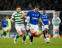 Football - 2019 Betfred Scottish League Cup Final - Celtic vs. Rangers<br /> <br /> Borna Barisic of Rangers vies with James Forrest of Celtic, Hampden Park Glasgow.<br /> <br /> COLORSPORT/BRUCE WHITE