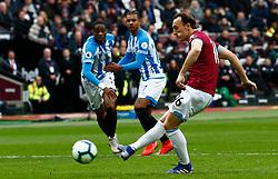 Mark Noble of West Ham United scores a penalty  - Mandatory by-line: Phil Chaplin/JMP - 16/03/2019 - FOOTBALL - London Stadium - London, England - West Ham United v Huddersfield Town - Premier League