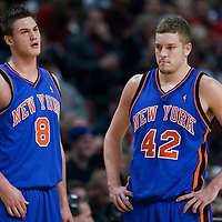 17 December 2009: New York Knicks forward Danilo Gallinari and New York Knicks center David Lee are seen during the Chicago Bulls 98-89 victory over the New York Knicks at the United Center, in Chicago, Illinois, USA.