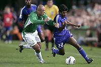 Fotball<br /> VM-kvalifisering<br /> Irland v Frankrike<br /> 07.09.2005<br /> Foto: Dppi/Digitalsport<br /> NORWAY ONLY<br /> <br /> VIKASH DHORASOO (FRA) / STEPHEN CARR (IRE)