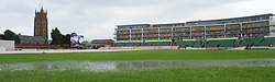 General view of water on the pitch after the day was abandoned - Mandatory byline: Alex Davidson/JMP - 07966386802 - 24/08/2015 - Cricket - County Ground -Taunton,England - Somerset CCC v Worcestershire CCC - LV= County Championship Division One - Day 4
