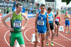 MCKILLOP Michael, UDOVICIC Petar, KOBESOV Chermen, 2014 IPC European Athletics Championships, Swansea, Wales, United Kingdom