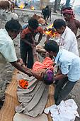 Cremation in Puri, India
