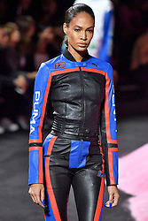 Model Joan Smalls walks on the runway during the Fenty X Puma Rihanna Fashion show at New York Fashion Week Spring Summer 2018 held in New York, NY on September 10, 2017. (Photo by Jonas Gustavsson/Sipa USA)