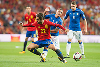 Spain's Fernando Alarcon 'Isco' and Italy's Marco Verratti during match between Spain and Italy to clasification to World Cup 2018 at Santiago Bernabeu Stadium in Madrid, Spain September 02, 2017. (ALTERPHOTOS/Borja B.Hojas)