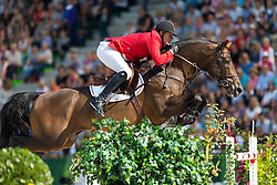Gregory Wathelet, (BEL), Conrad De Hus - World Champions, - Second Round Team Competition - Alltech FEI World Equestrian Games™ 2014 - Normandy, France.<br /> © Hippo Foto Team - Leanjo De Koster<br /> 25/06/14